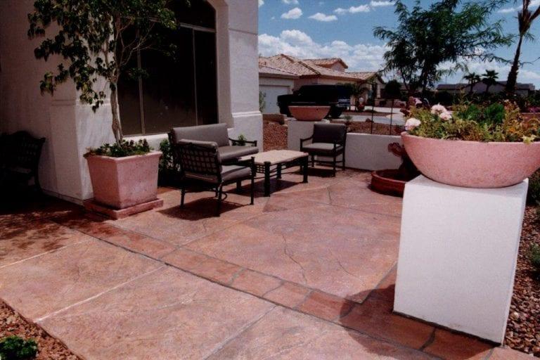 Arizona concrete patio ideas
