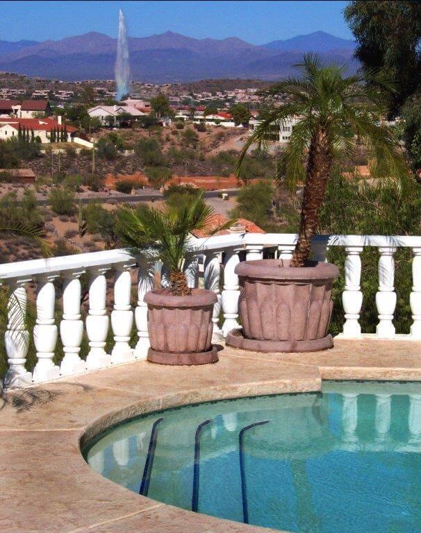 Decorative Concrete pool deck